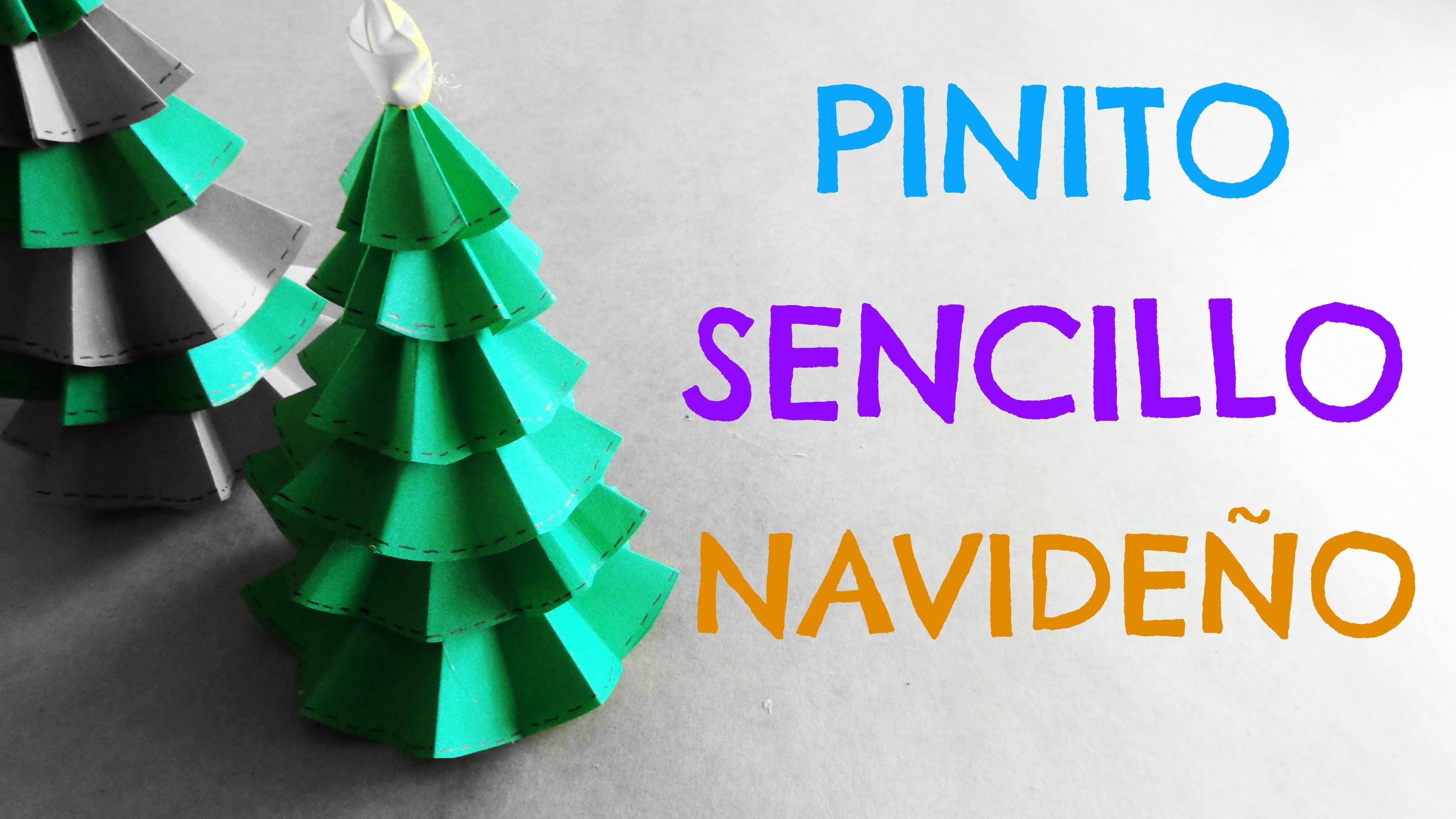 Pinito de Papel {SUPER FACIL}. Ideas para Navidad