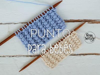 Punto fácil para tejer ropa de bebé en dos agujas