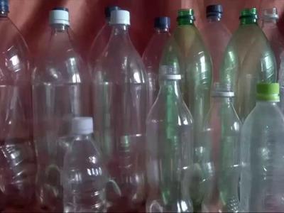 Reciclaje: Árbol de Navidad  con Rosetas de botellas de plastico