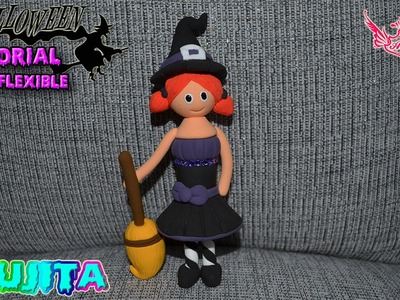 ♥ Tutorial Halloween: Bruja de Masa Flexible ♥
