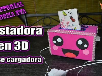 ♥ Tutorial: Tostadora en 3D (Base cargadora) de Goma Eva (Foamy) ♥