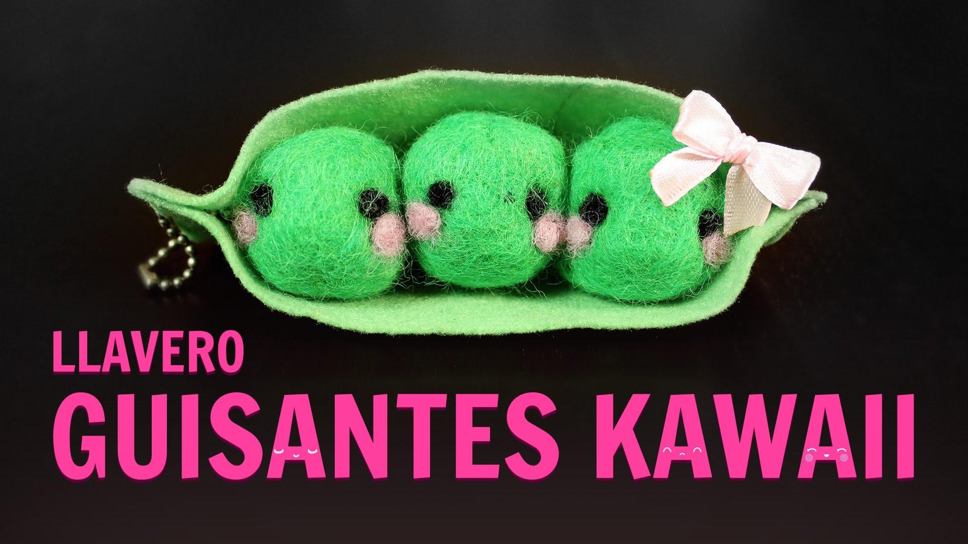 Vaina de guisantes kawaii (Manualidades con fieltro)