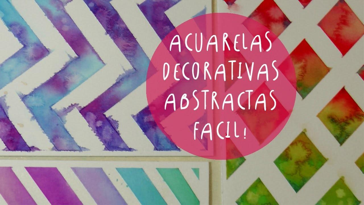 Acuarelas decorativas con cinta de papel (cinta de enmascarar) by ART TV (ESPAÑOL)