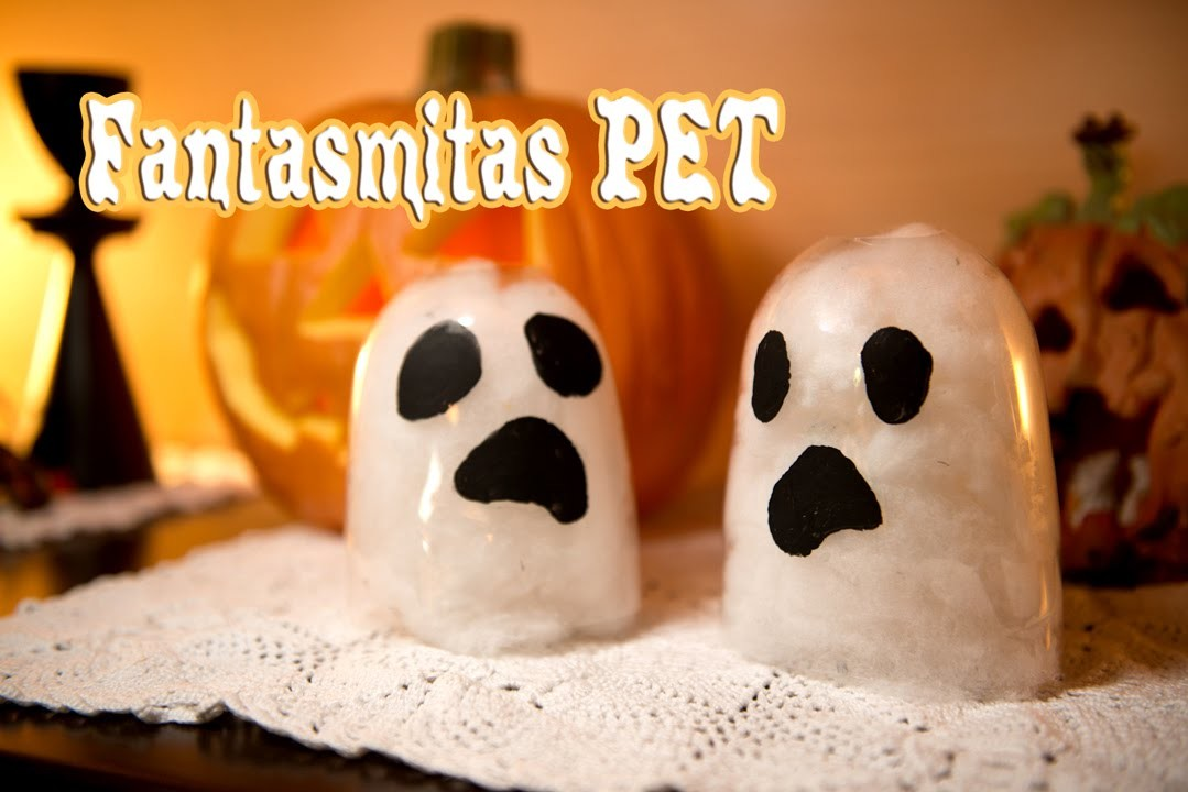 Adorno Fantasma Halloween Super Rapido Facil y Reciclado