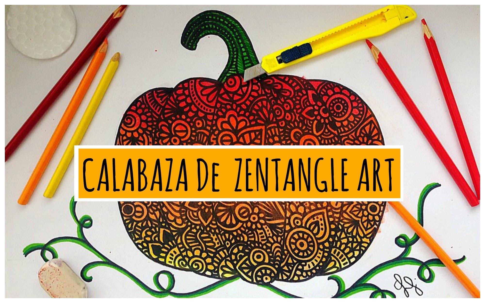 Calabaza de Zentangle Art
