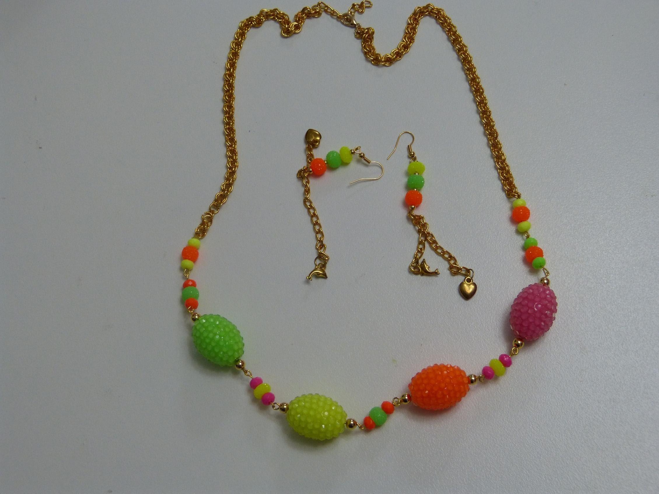 Collar multicolor facil  para dama paso a paso