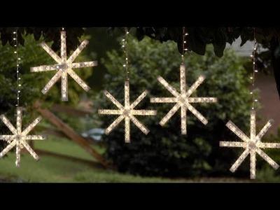 Cómo crear un copo de nieve de luces