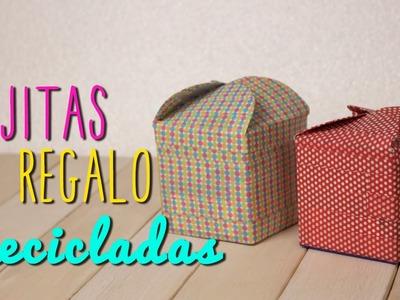 Como hacer Cajas de Regalo Originales - Cajitas Recicladas de Cartón de Leche Fáciles - Mini Tip#64