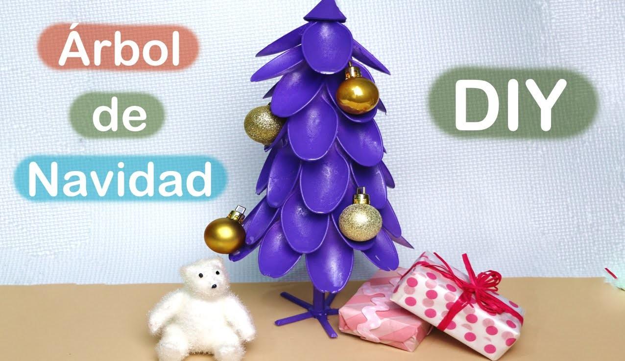 Cómo hacer un árbol de Navidad con cucharillas. Christmas tree Diy