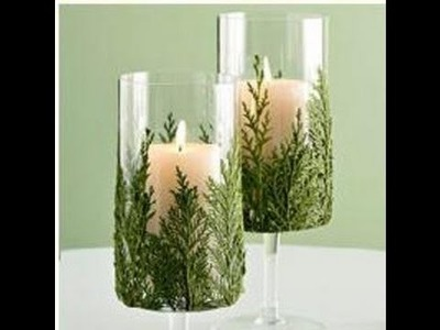 Como hacer un centro de mesa con copas de vidrio