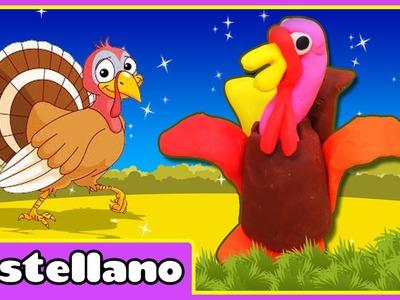 Cómo Hacer Un Pavo De Plastilina - Play Doh Turkey Hooplakidz Castellano