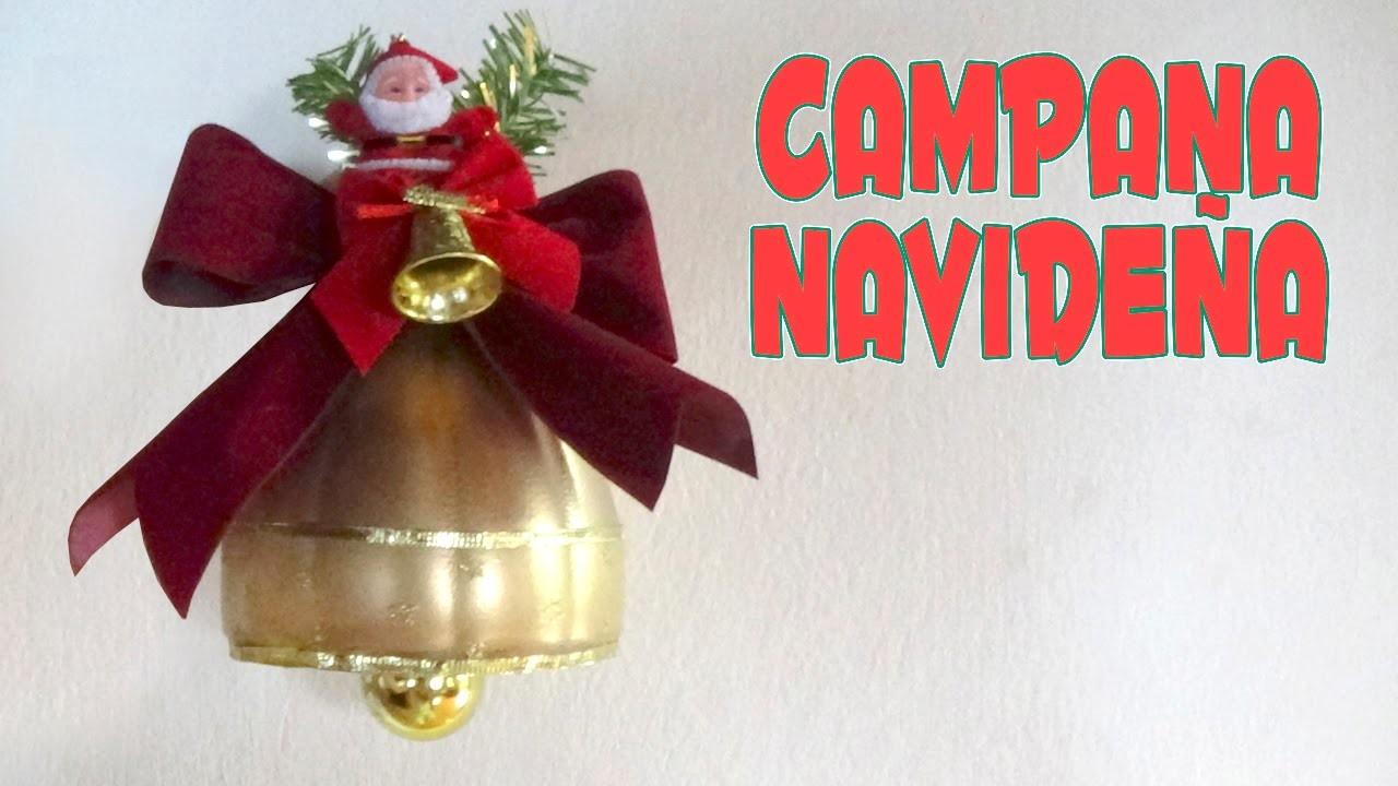 Cómo hacer una campana navideña con botellas de plástico recicladas - Candy Bu
