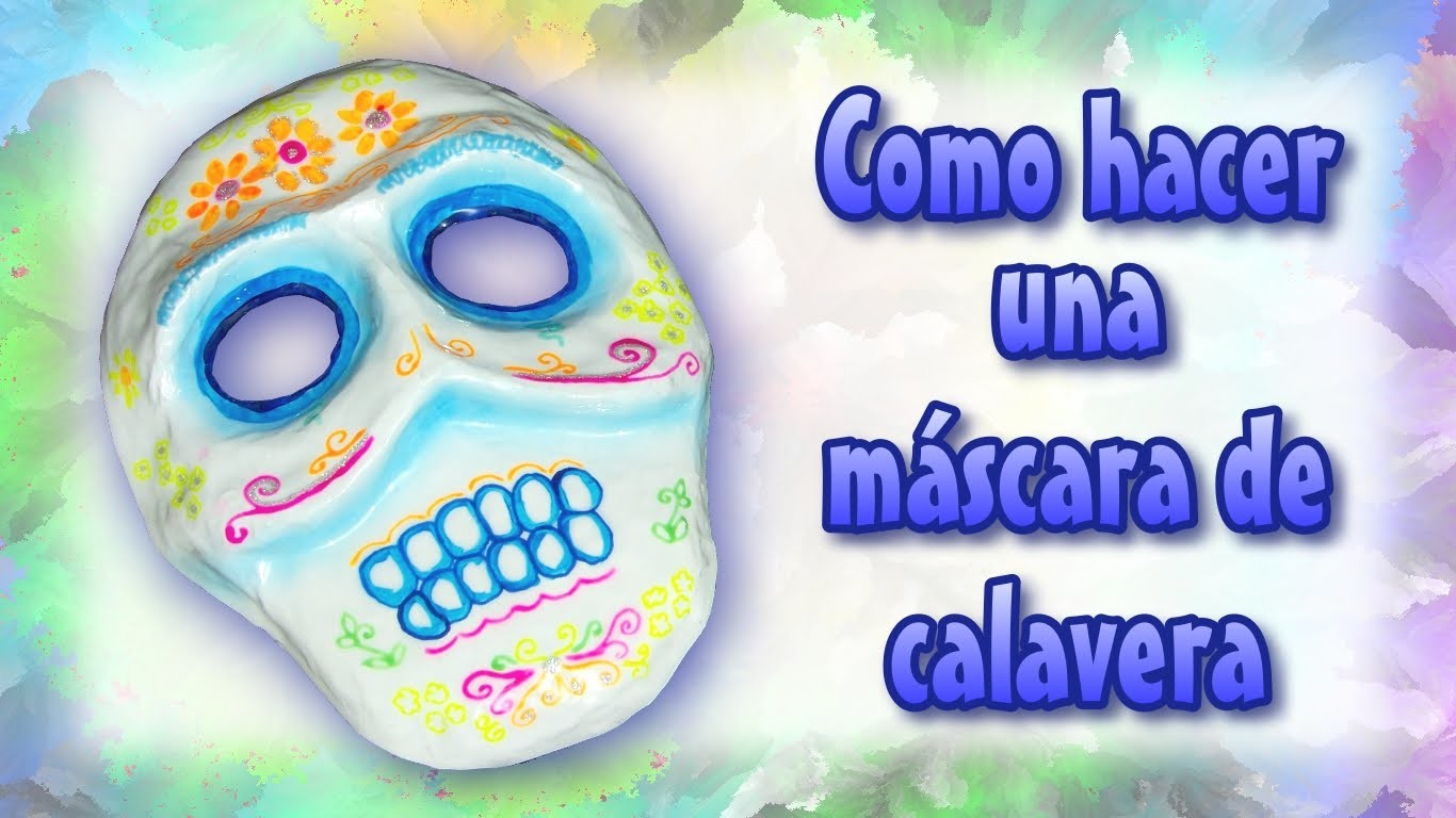 Como hacer una máscara de calavera (how to make a Mexican skull mask)