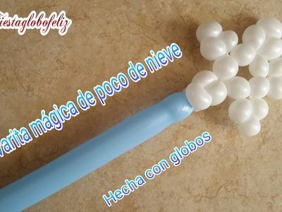 Como hacer una Varita mágica de poco de nieve hecha con globos