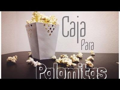 D.I.Y Caja Para Palomitas