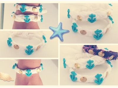 DIY: Como hacer pulseras faciles en casa! Materiales reciclados!