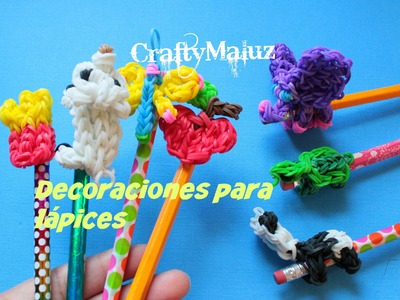DIY : Como Reutilizar Nuestras Figuras de Gomitas y decorar nuestros lápices