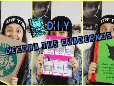 DIY DECORA TUS CUADERNOS ♥