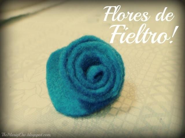 DIY: Rosas de fieltro! [facil+rápido]