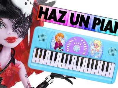 Haz un Piano o keyboard para muñecas -  Manualidades para muñecas