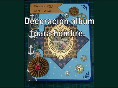 Idea decoración álbum para hombre