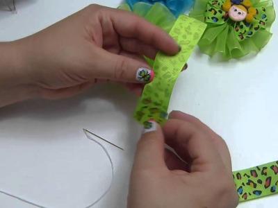 Ideas Faciles Pequeños Lazos en cinta organza y gros para el cabello. Moños faciles