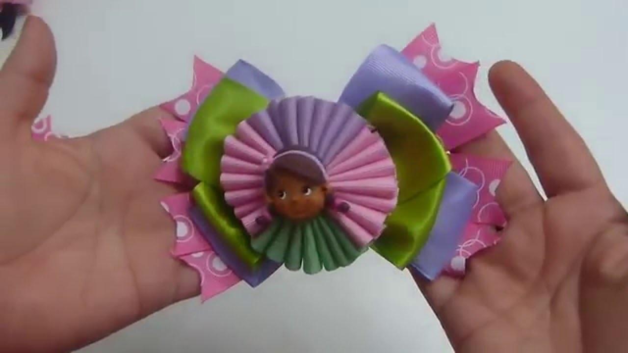 Moños Multicolores para el cabello de las Niñas en cinta Gros.  Moños fáciles