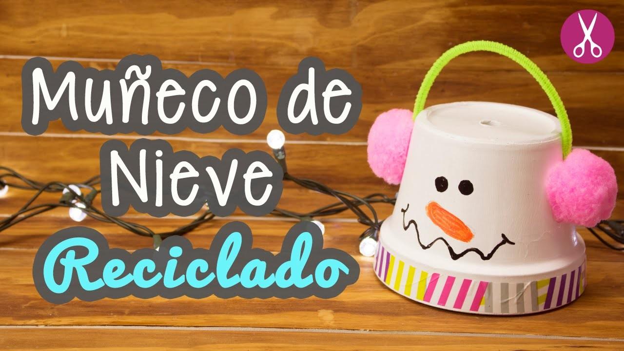 Muñeco de Nieve Reciclado - Decoraciones Navideñas - Manualidades para Navidad   Catwalk