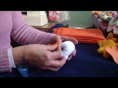 Muñecos Soft. mantita de apego con cara de pato 2 proyecto 31