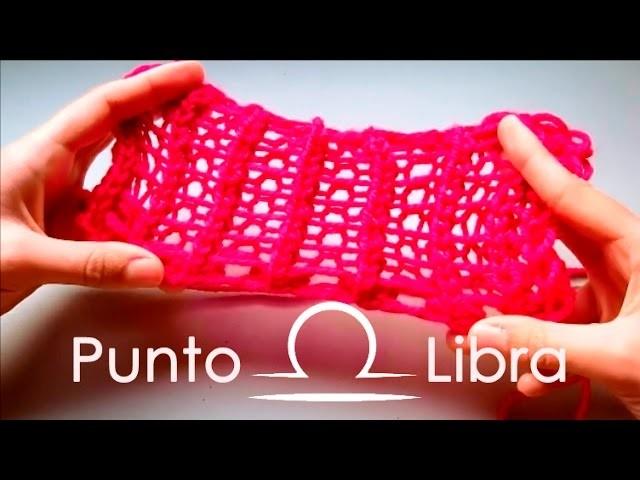 Punto Libra en telar maya. Libra stitch on loom