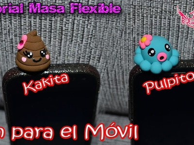 ♥ Tutorial: Accesorio para el Móvil (Kakita y Pulpo Kawaii) de Masa Flexible ♥