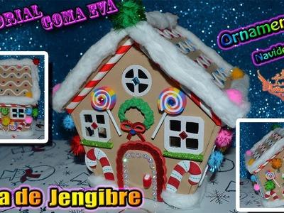 ♥ Tutorial: Casa de Jengibre de Navidad de Goma Eva (Foamy) ♥