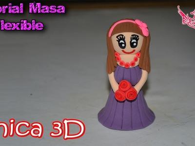 ♥ Tutorial: Chica en 3D de Masa Flexible ♥