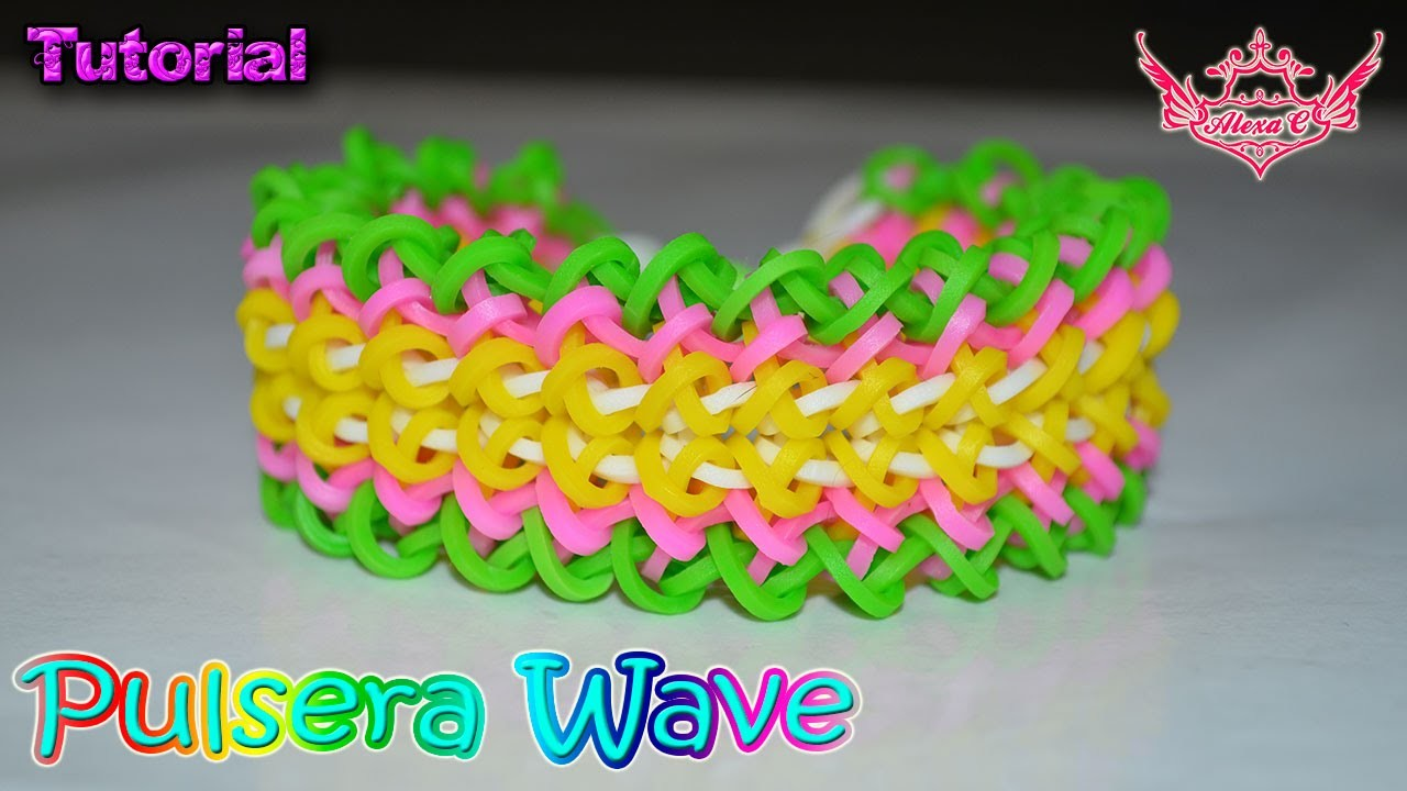 ♥ Tutorial: Pulsera Wave (sin telar) ♥
