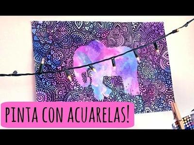 Acuarelas y Sal! | Zentangle Art