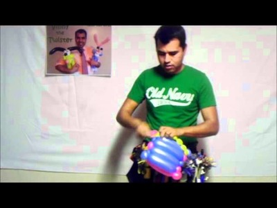 BOLSA DE MANO. Aprenda hacer figuras de globos. Learn to make balloon figures Vinny the twister