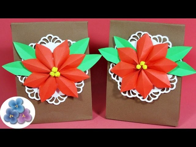 Bolsas de Papel para Regalo Navidad 2015 Manualidades con Papel Pintura Facil