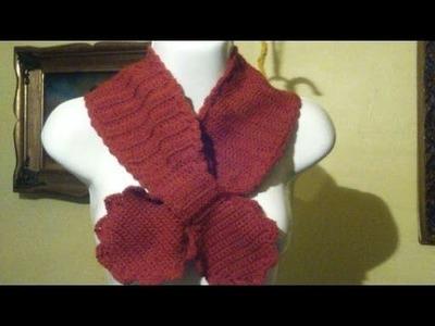 Bufanda a crochet con enlace de moñito. 3a. Parte.