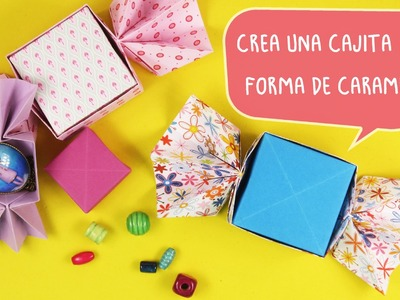 #Caja de #Regalo con Forma de Caramelo
