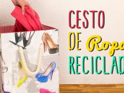 Cesto para Ropa Sucia Reciclado - De Caja de Cartón - Paso a Paso  ♥ - Catwalk