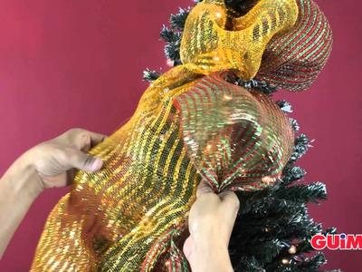 Como colocar tus mallas navideñas en el arbol de navidad