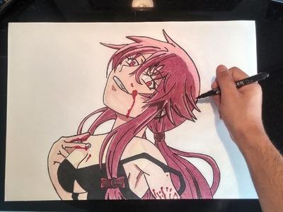 Cómo dibujar a Yuno Gasai (Mirai Nikki) | How to draw Yuno Gasai