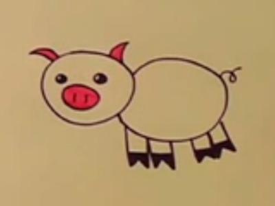 Cómo dibujar un cerdo con los niños paso a paso