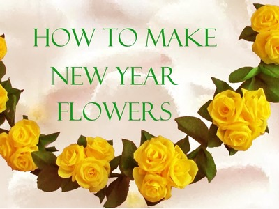 Como hacer flores hermosas de papel - How to make flowers paper roses beautiful