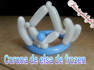 Cómo hacer la corona de elsa de frozen con globos