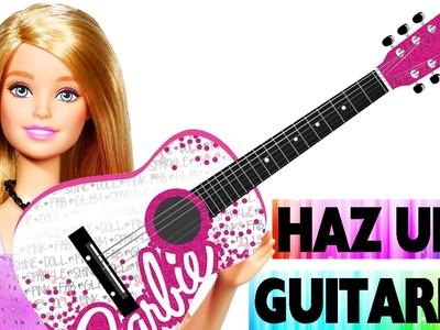 Cómo hacer una guitarra para tu muñeca - Manualidades faciles para muñecas