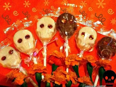 Como hacer unas Paletas de chocolate de Calaveritas para Hallowen o Dia de muertos