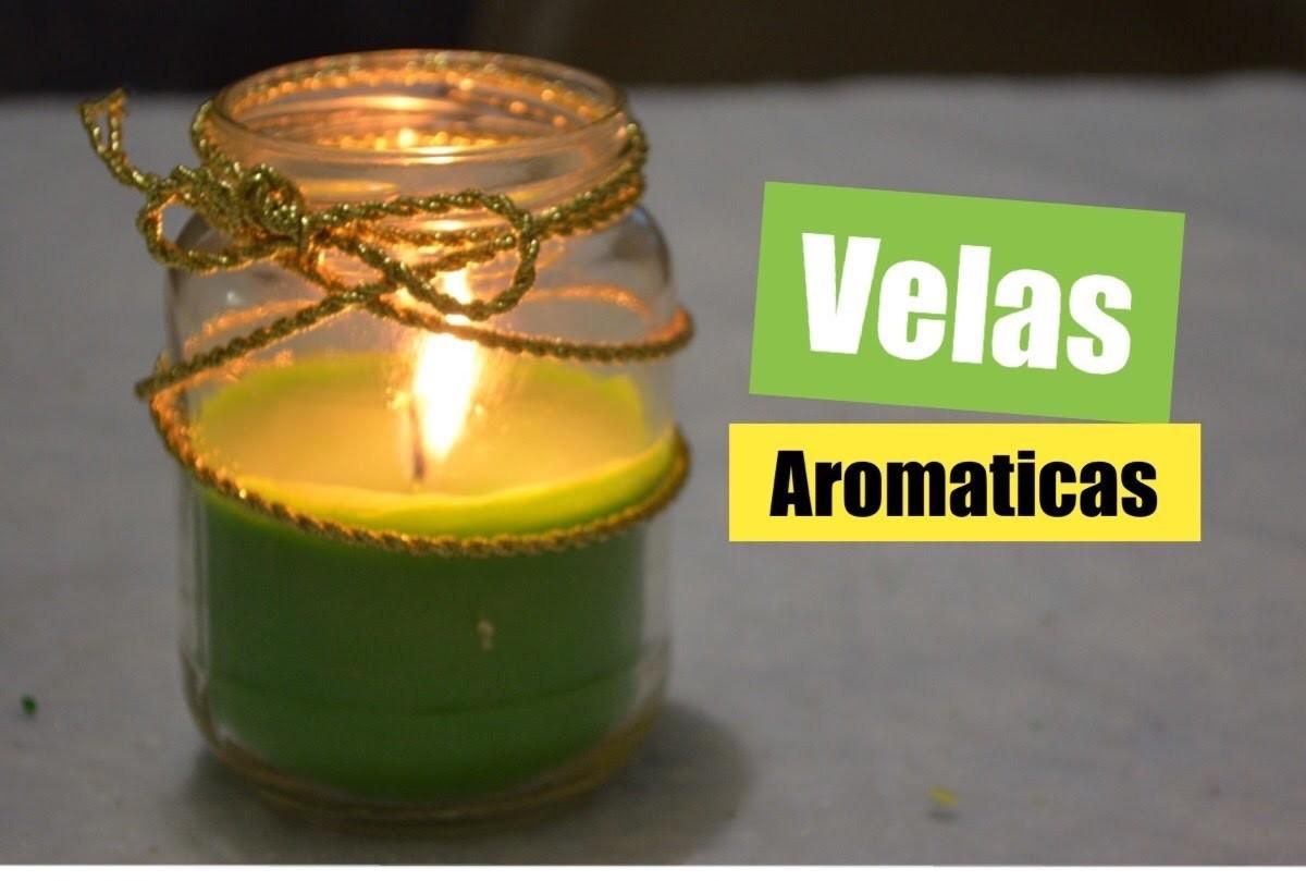 Como hacer velas aromaticas facil.candle diy