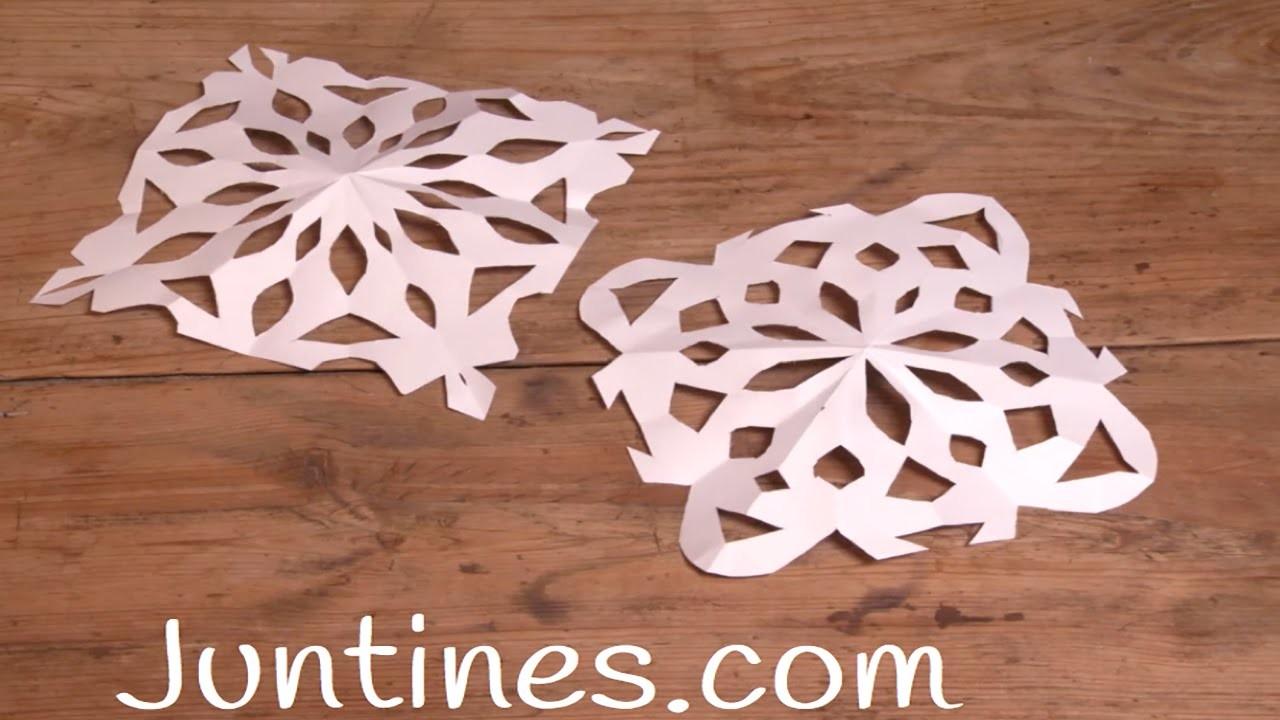 Copos de nieve de papel: decoración navideña