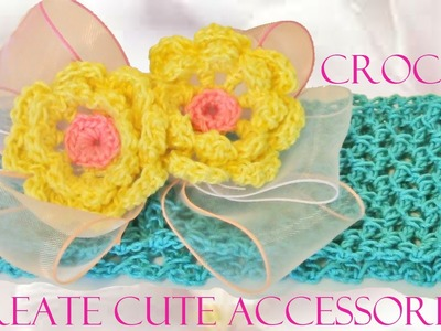 Crea lindos accesorios para el cabello a crochet - Create cute accessories for school crochet